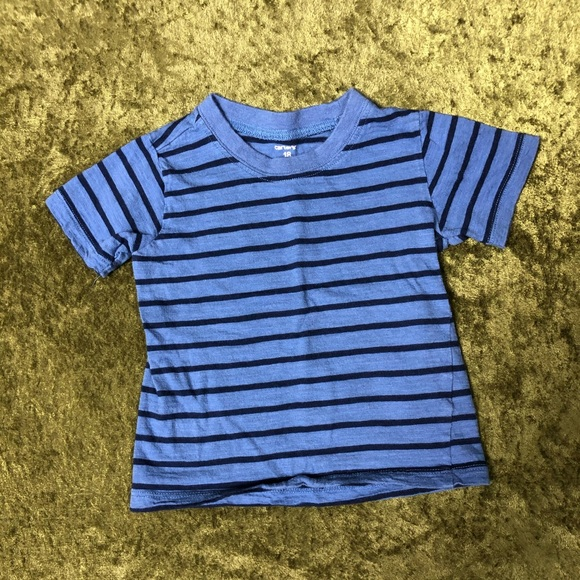 Carter's Other - LAST CHANCE🍌Carter's blue striped shirt
